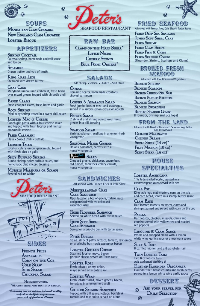 Peter's-Restaurant-Menu-Front-No-Prices