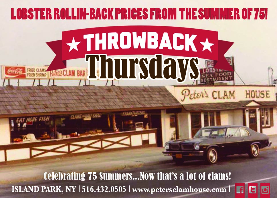 Throwback Thursdays at Peter's (commercial)