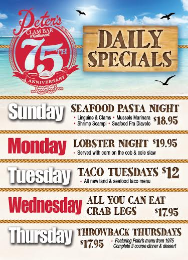 peters daily specials